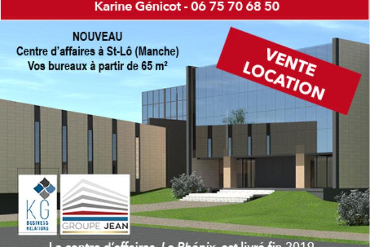 Vos bureaux au nouveau Centre d'affaires «Le Phénix» à Saint-Lô