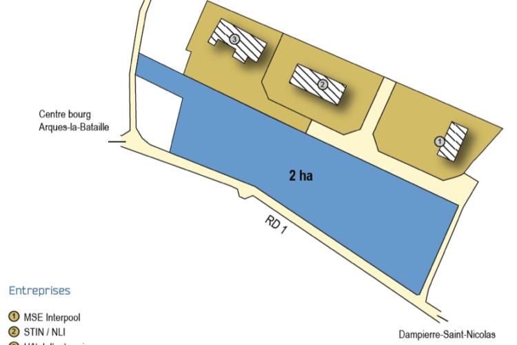 Zone d'Activité de l'Aubinière – Saint-Aubin-le-Cauf – terrain à vendre
