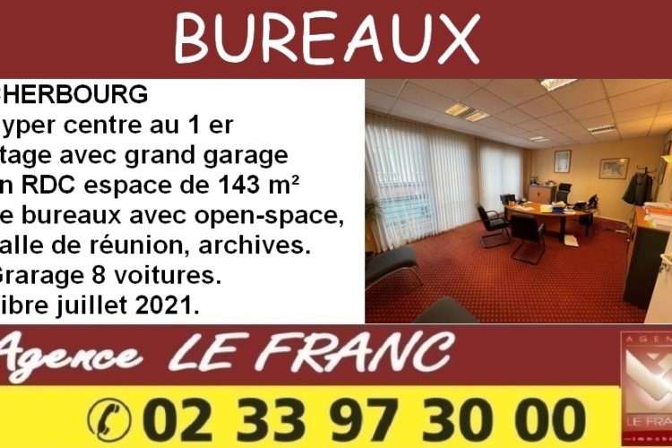 espace de bureaux avec grand garage