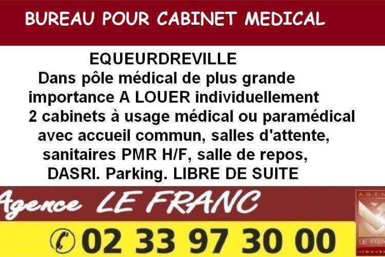 Bureau à usage de cabinet médical ou paramédical